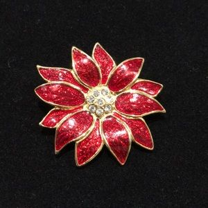Jewelry - Poinsettia Brooch